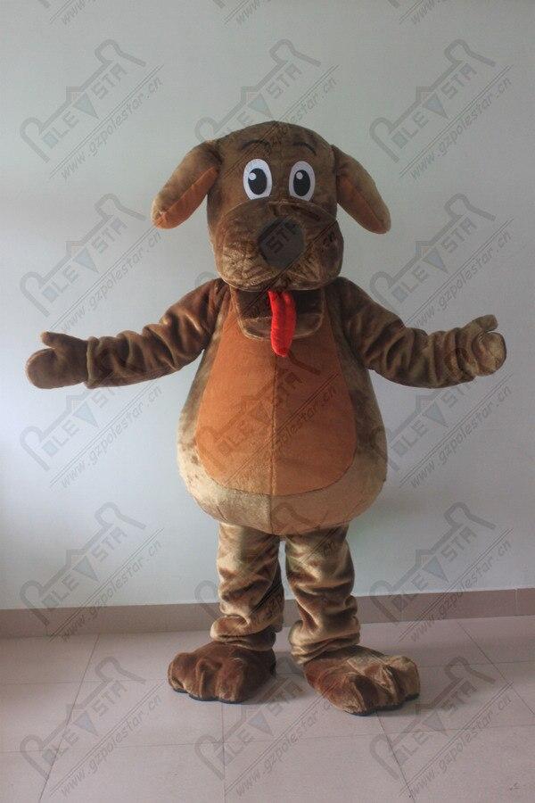 Offre spéciale personnalisée mascotte de chien brun costumes dessin animé chiot costumes