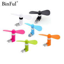 BinFul Travel Mini USB Gadget Portable Summer Micro USB Cooling Fan Universal For Android OTG Smartphones Power Bank USB Laptop