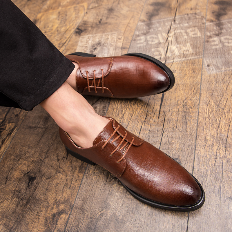 Rommedal Mans formal shoes spring autumn genuine leather men business office black brown oxford wedding dress footwear