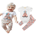 2017 Infant Clothes Baby Clothing Sets Bebe Girl Cotton Flower Romper+Gem Pants 2pcs Suit Toddler Newborn Short Sleeve Outfits