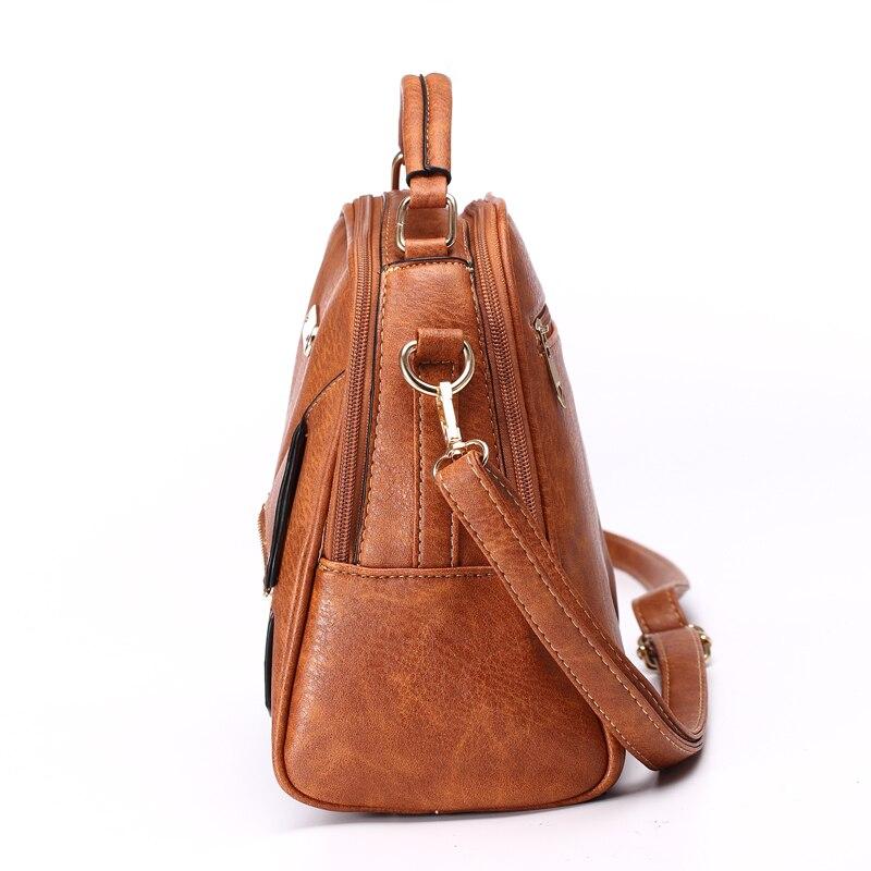 zíper bolsa de couro pu Color : Blue, Black, khaki, brown, coffee, l