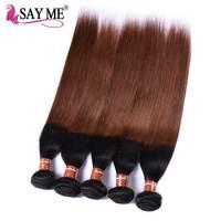 Brazilian Hair Weave Bundles Ombre 1B/30# Straight Hair Bundles Deals 1pcs 3 Bundles 4 Pieces Ombre Hair Bundles Remi Remy Hair