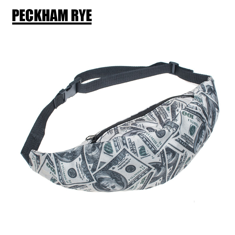 2017 fashion DIY 3D US dollar Printed Fanny Packs Money Waist Bags women messenger bags belt bag men sac de taille прибор для укладки волос remington cb65a45 keratin therapy