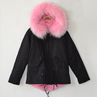 Winter Short Style Coat With Brand MR Parka And Mrs Fur Jacket Hot Sale Style