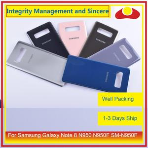 Image 1 - Original For Samsung Galaxy Note 8 N950 N950F SM N950F N9500 Housing Battery Door Rear Back Glass Cover Case Chassis Shell