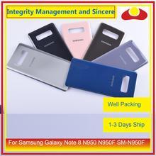 Original para samsung galaxy note 8 n950 n950f SM N950F n9500 habitação porta da bateria traseira de vidro caso capa chassis escudo