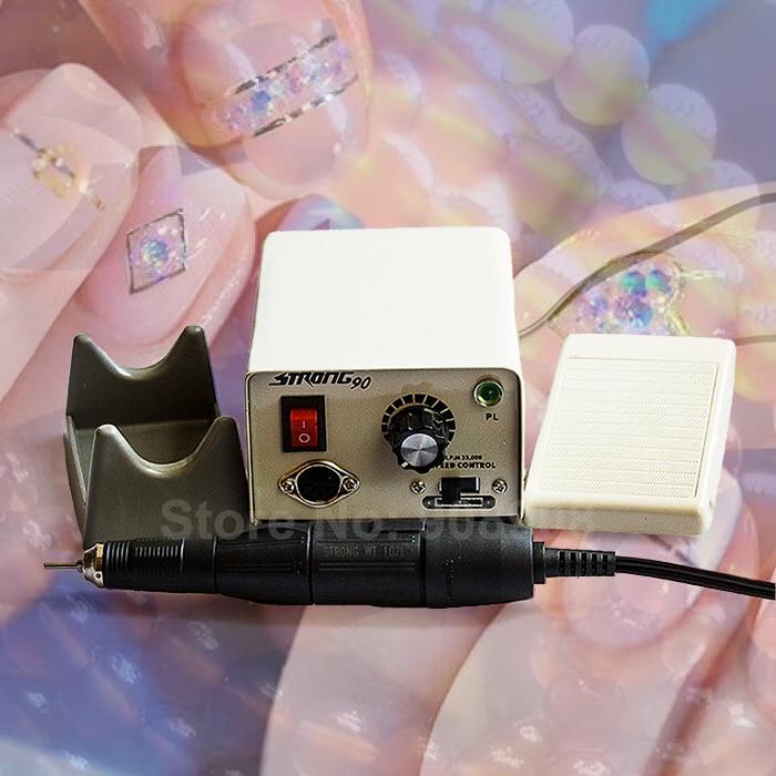 цена на 35K RPM STRONG 90 Micromotor Dental Lab Nail File Jade Moule Walnut Carving Dremel Polishing Cutting Milling Trimming Grinding