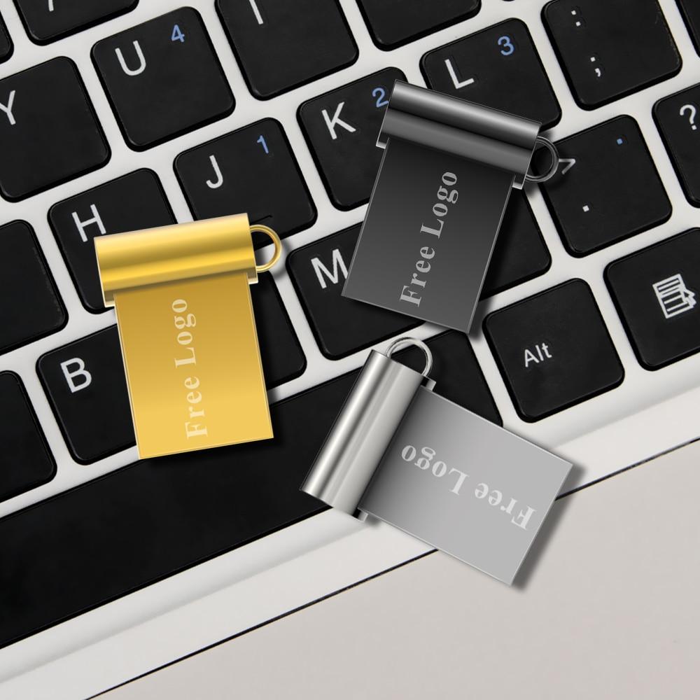 Image 2 - Mini hot sale driver stick 4GB 8GB metal material 16GB 32GB U disk flash drive 64GB 128GB free custom LOGO free shipping-in USB Flash Drives from Computer & Office