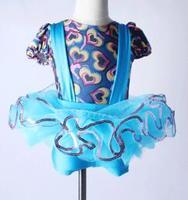 Açık mavi caz dokunun tutu çocuklar çocuk prenses Tutu Kız Bale Dans Elbise leotard