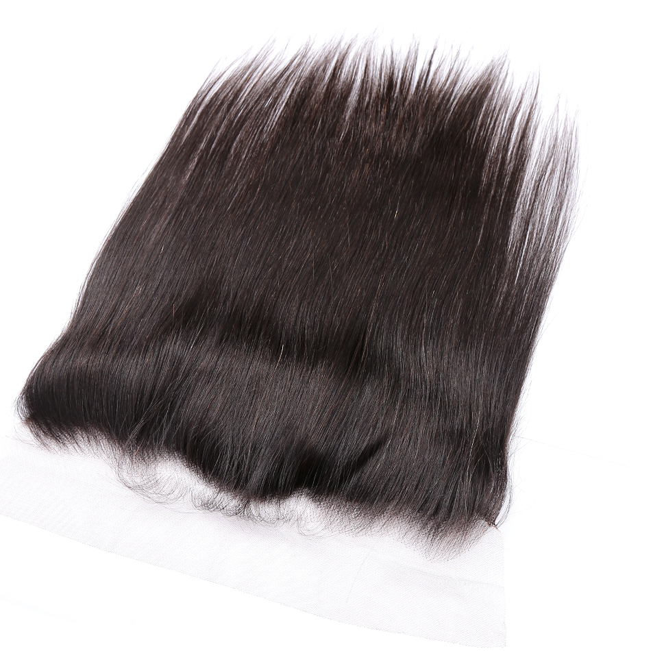 Halo Hair Straight Lace Frontal Closure With Baby Hair 13x4 Ear To Ear Pre-Plucked 100% Remy Brazilian Hair
