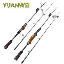 YUANWEI 1.98m 2.1m 2.4m Spinning or Casting Fishing Rod 2 Section ML M MH Power Carbon Lure Rod Stick Vara De Pesca Olta Vara цены