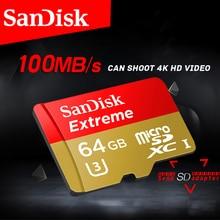 Бесплатная доставка карты памяти SanDisk Extreme MicroSD UHS-I microSDXC Class10 U3 100 МБ/с. 32 ГБ 64 ГБ TF карты Поддержка 4 К UHD