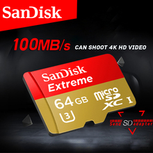 Free shipping SanDisk Memory Card Extreme microSD UHS-I microSDXC Class10 U3 90MB/S 32GB 100 MB/s 64GB TF Card Support 4K UHD