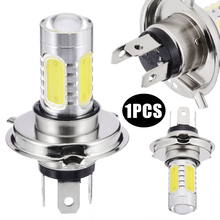 1PC H4 9003 COB High/Low Beam Motorcycle Headlight Bulb 30W High Power White LED Lamp For Off-road Scooter ATV