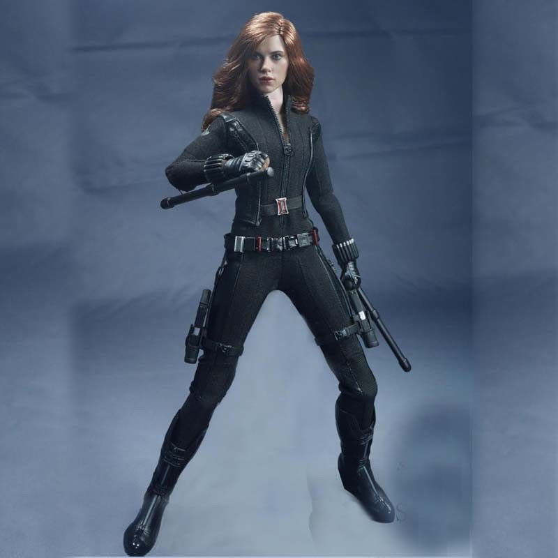 1//6 Scale Black One-piece Cloth SOTOYS SO-T03 The Avengers Black Widow Suit