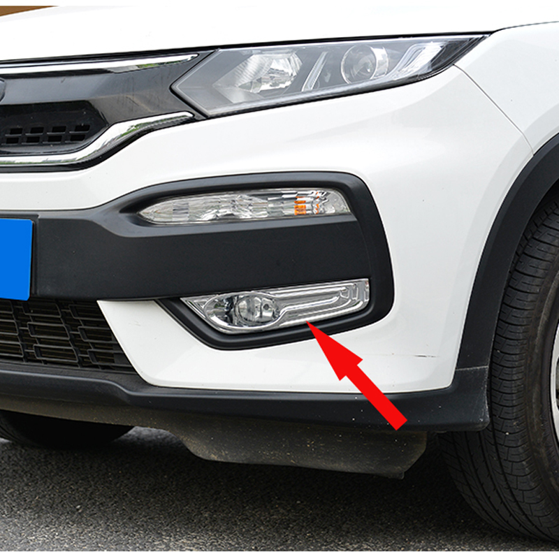 Free Shipping High Quality ABS Chrome Front Fog lamps cover Trim Fog lamp shade Trim For Honda XRV XR-V