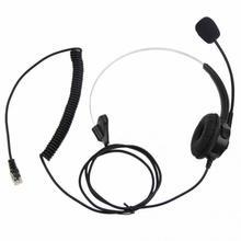 цена на Telephone Headset Call Center Operator Monaural Headphone Customer Service Landline Voice Call Chat Headset Earphone hot~
