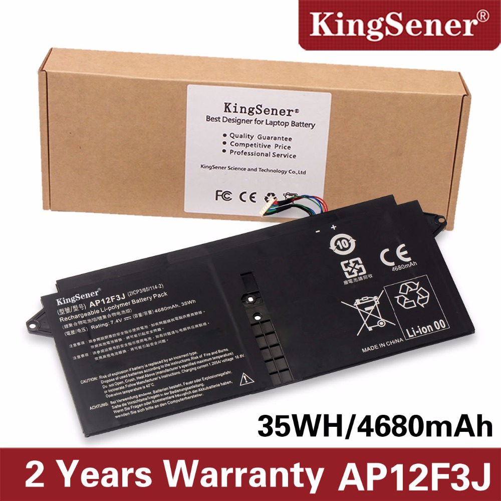 KingSener New AP12F3J Laptop Battery For Acer Aspire 13.3