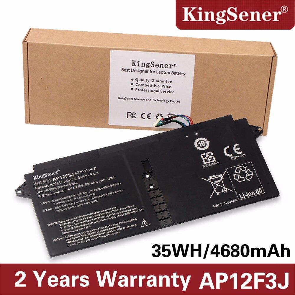 KingSener Nouveau AP12F3J batterie d'ordinateur portable Pour Acer Aspire 13.3
