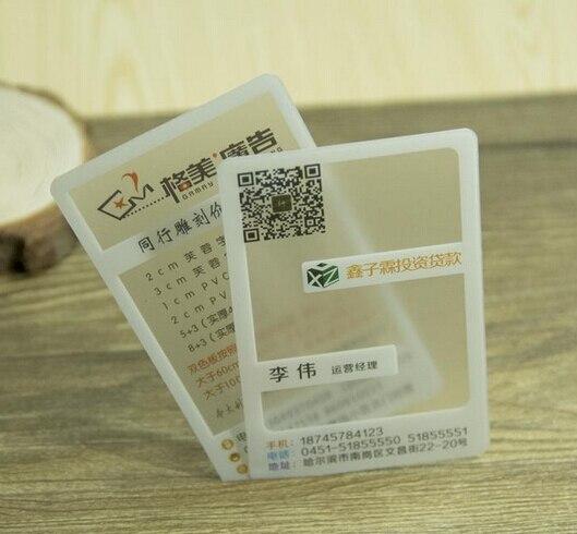 Us 45 9 15 Off 500 Stücke Volle Farbe Benutzerdefinierte Maßgeschneiderte Business Besuchen Kartendruck Pvc Visitenkarte Transparent Kunststoff