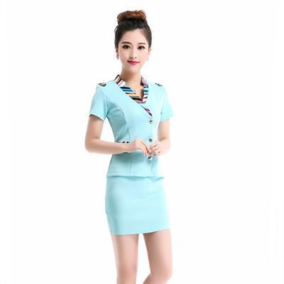 Frete grátis verão Sexy uniformes escritório saia ternos mulheres de carreira excelente de trabalho aeromoça uniforme veste
