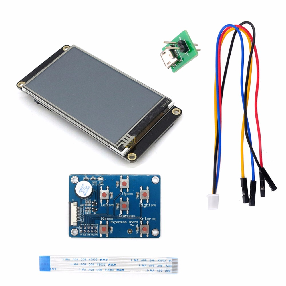 NX3224T024 Nextion Enhanced 2.4 HMI Touch Display 320/×240 Pixel Screen Panel with I//O Expansion Board for Arduino Raspberry Pi