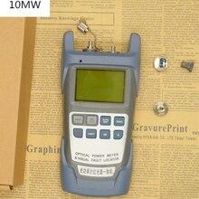 올인원 광섬유 광 파워 미터 70 ~ + 10dbm 및 10 mw 10 km 광섬유 케이블 테스터 시각 장애 탐지기 레이저 펜 테스터