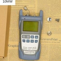 Verificador visual da pena do laser do localizador da falha do verificador do cabo da fibra ótica tudo-em-um medidor de potência-70 a + 10dbm e 10mw 10km