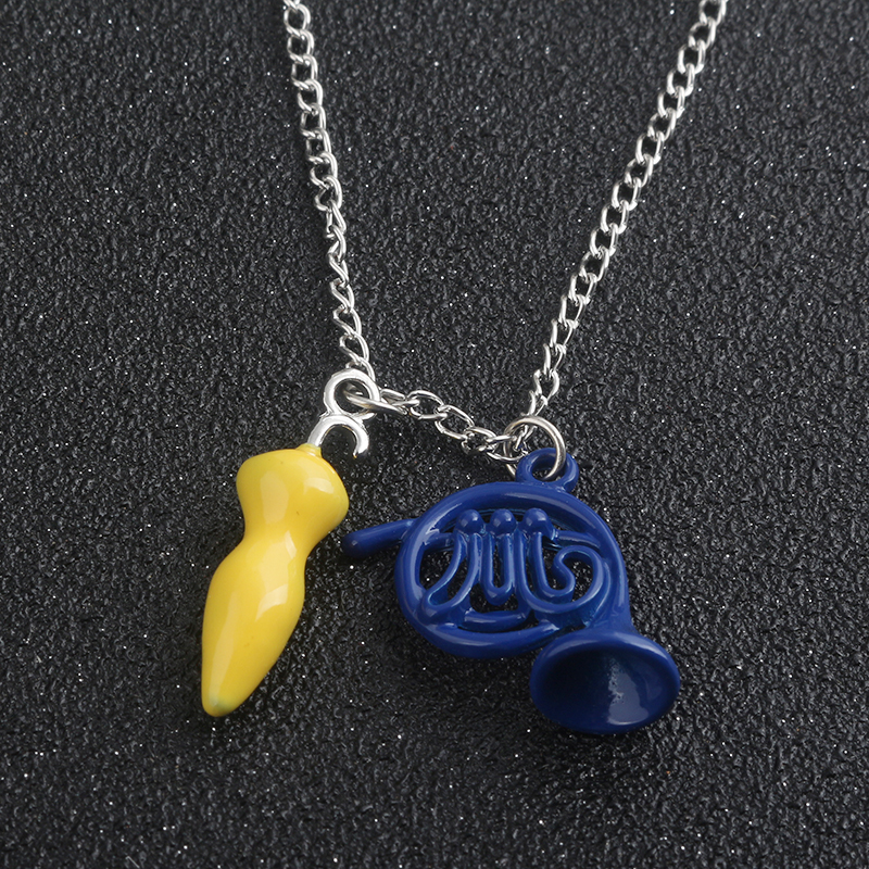 M2 Alice in wonderland How I Met Your Mother Necklace Pendant Blue French Horn and Yellow Umbrella With Silver Girls Necklaces