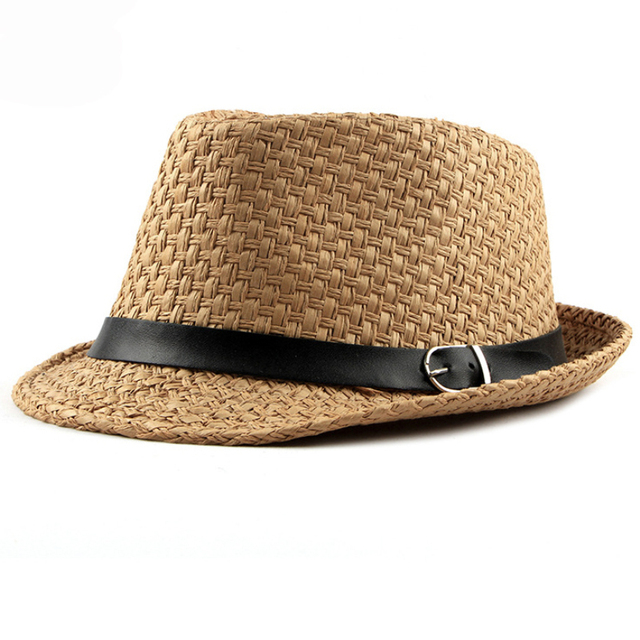 HT1751 2018 New Men Straw Hat Male Summer Jazz Hats with Belt Breathable  Cowboy Hats Fedoras b2d2a1f8798