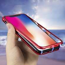 Luxury Tempered Glass Magnetic Adsorption Phone Case For iPhone XS Max X XR 8 7 Plus 6 6s Double Sided Magnet Cover