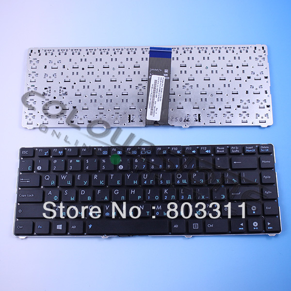 Hot selling RUSSIA laptop keyboard for ASUS EEE PC 1215 EPC1215B RU Black keyboard 9J.N2K82.H0R