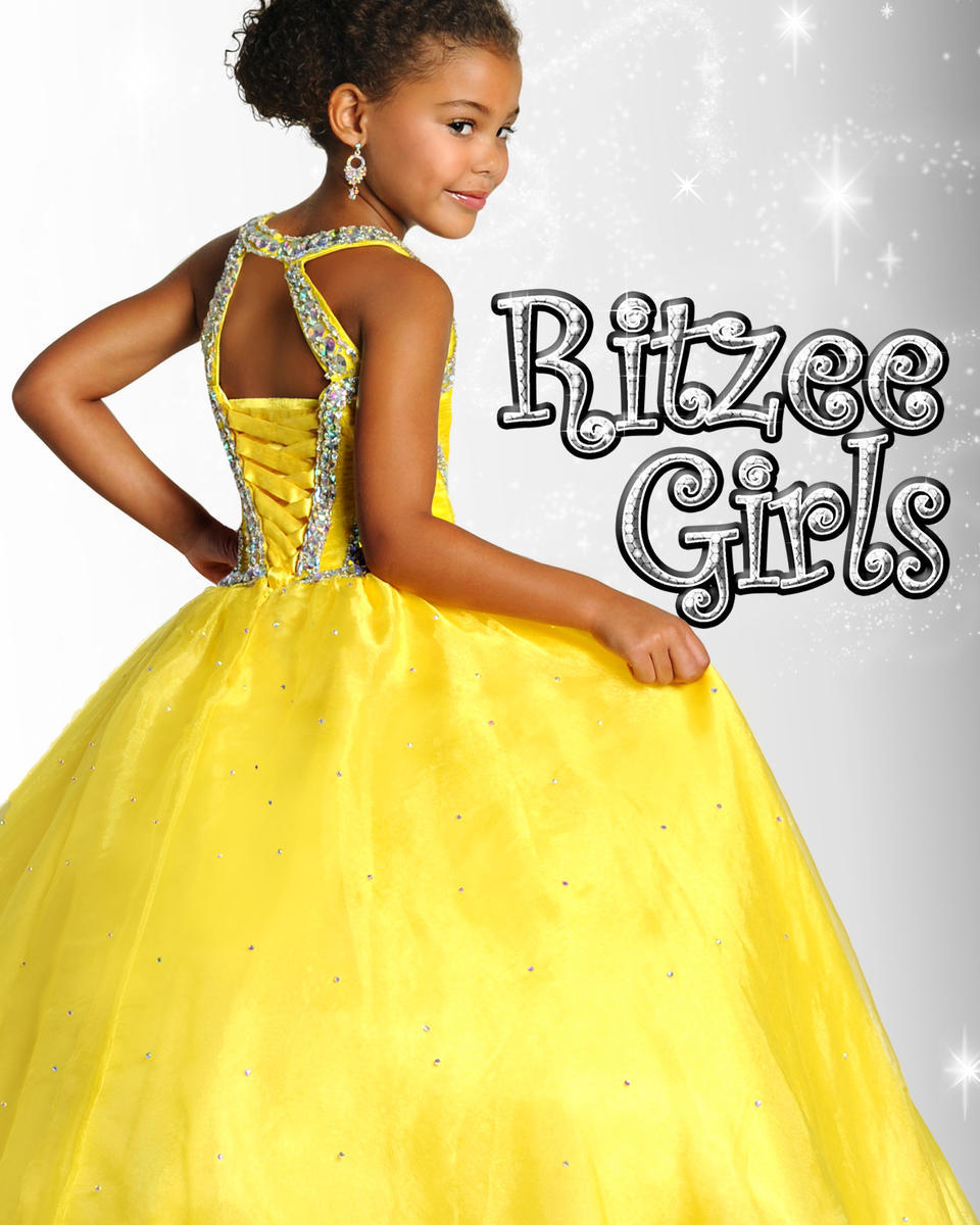 New First Communion Dress For Little Girls Pageant Dresses Yellow