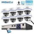 MISECU 8CH 1080 P POE NVR комплект безопасности Система наблюдения ссtv Крытый аудио записывать звук IP купольная Камера P2P видео набор для наблюдения