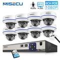 MISECU 8CH 1080 P POE NVR Kit Sicherheit Kamera CCTV System Indoor Audio Record Sound IP Dome Kamera P2P Video überwachung Set