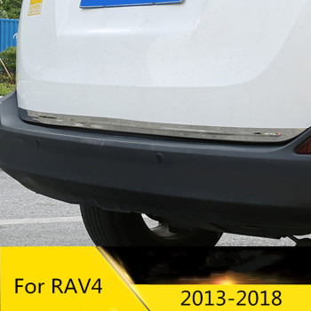 Free Shipping! Stainless Steel Rear Door Bottom Trunk Lid Cover Trim For toyota RAV4 RAV 4 AX40 2013 2014 2015 2016 2017 2018 image