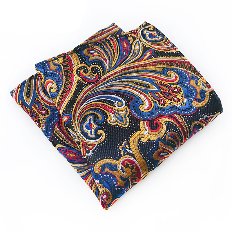Paisely Hankies For Men Brand Small Pocket Towe Floral Printed Handkerchief Pocket Square For Mens Suit Wedding