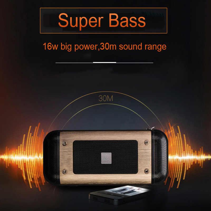 16 Вт супер бас Открытый Автомобиль Велосипед металлическая колонка с Bluetooth 10000 мАч банк мощности портативный 3D стерео Блютуз-гарнитура с микрофоном