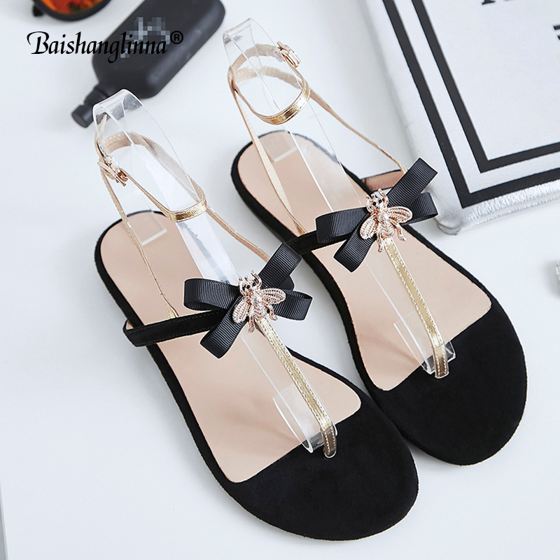 2018 Women Sandals Summer Gladiator Shoes Ladies Bohemia Shoes Woman Comfort Beach Shoes Flat Sandals genuine leather sandals toyl summer sandals women bohemia national flat with flowers shoes roman style gold gladiator sandals women shoes sweet