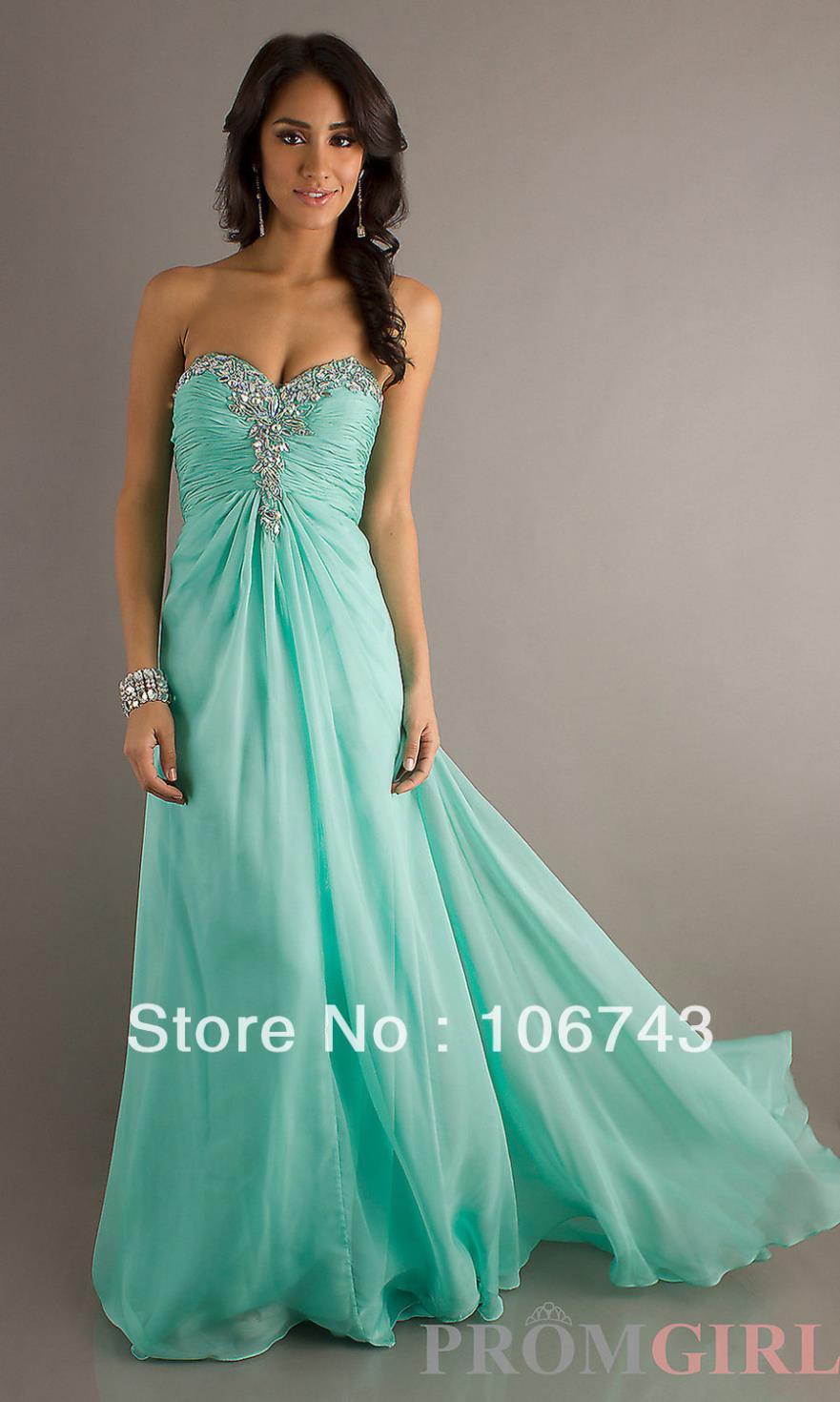 free shipping evening   dress   2016 new hot sweetheart vestidos sexy backless crystal beading blue chiffon beach long   prom     dresses