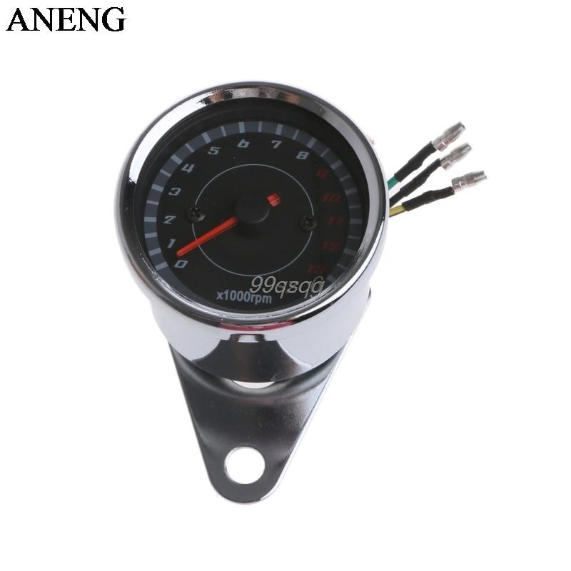 все цены на Universal LED Motorcycle Tachometer DC 12V Meter 13K RPM For Honda Yamaha Suzuki Drop ship