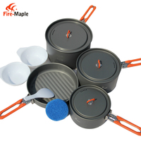 Fire Maple Feast 5 Outdoor Camping Hiking Cookware Backpacking Cooking Picnic Camping Pot Pan Bowl Set