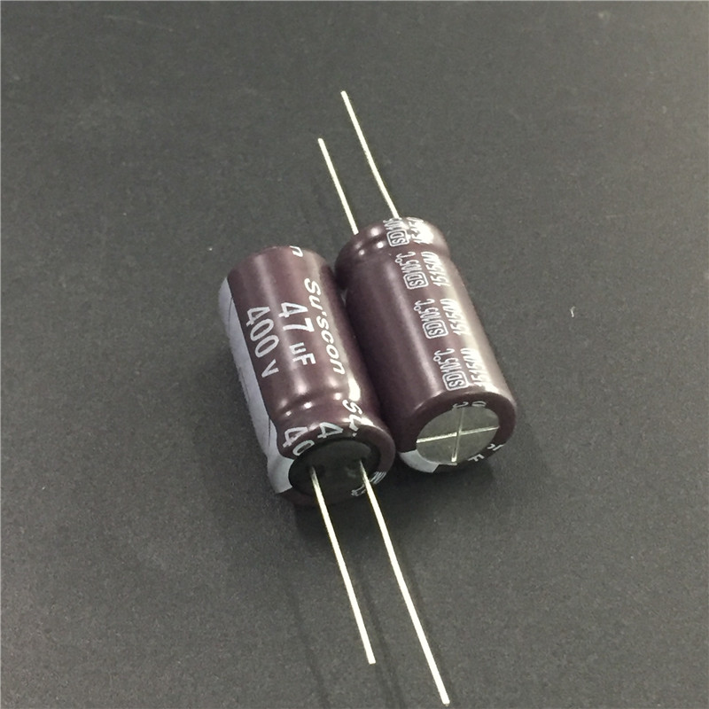 5pcs 47uF 400V Su'scon SD Series 12.5x26mm High Frequency Low Impedance 400V47uF Aluminum Electrolytic Capacitor