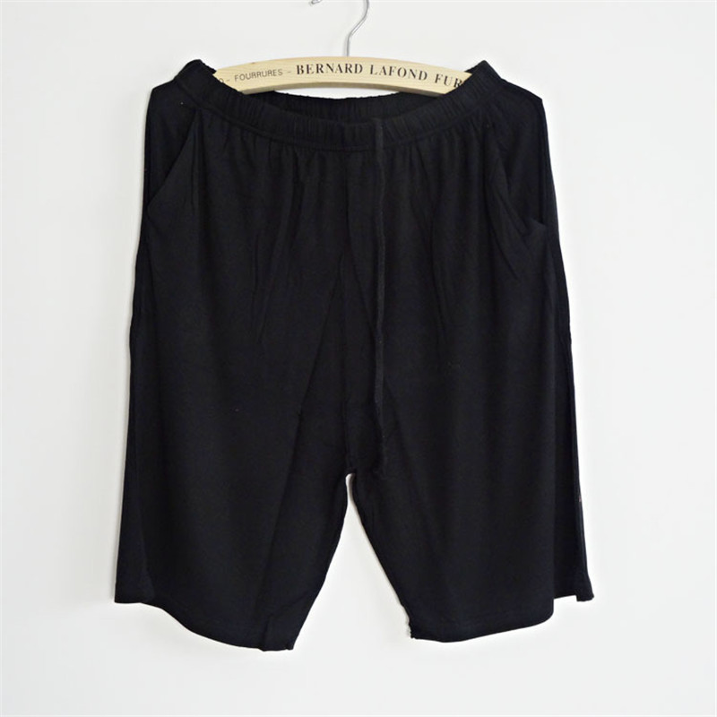 Plus size Summer modal sleep bottoms women pure color casual sleep pants women plus size shorts britches pajama pants for women 1
