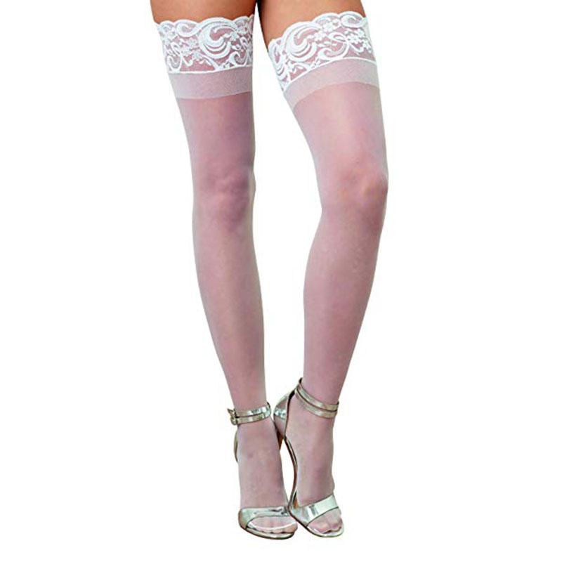 Newest 2019 Summer Sexy Lace Stockings Women Thigh High Over Knee Socks Long Socks Fashion Girls Cotton Black White Stocking