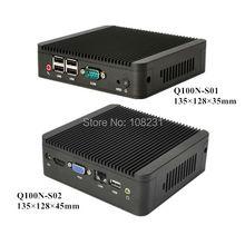 Последние безвентиляторный celeron 1037U маленький win 8 мини-компьютер DHL бесплатная доставка Qotom-Q100N