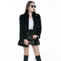 LANSHIFEI Middle Length Woman Faux Fur Coat Cool Plus Size Parka Warm Short Fur Thick Fur OL Style Jacket China Faux Fur Parka