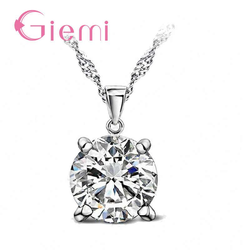 Wunderschöne Österreich Kristall Stein Anhänger Halskette Hochzeit Schmuck für WomenAuthentic 925 Sterling Silber Kette Weibliche Geschenke
