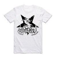 Gildan Print SEPULTURA Tribal Logo Metal Punk Rock Men T Shirt O Neck WhiteTshirt Summer Streetwear