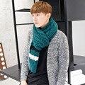 Осень и зима весна мужская шарф голубой лоскутное caddice утолщение теплый шарф осенью и любителей зимних вязаный шарф